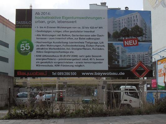 Bautafel stahl München 8x5m