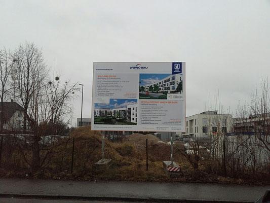 mobiles Bautafel Mietsystem München Aubing 4x3m