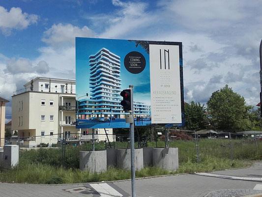 Bauschilder Ingolstadt 5x4m mobil Fundamente