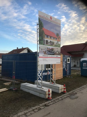 Mobiles Bautafel Miet System 2x3m  Mühldorf
