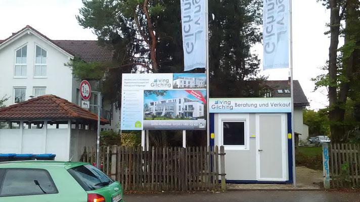 Bautafel 3x2m Holzkonstruktion Wohnform Gilching