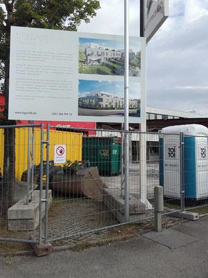 Bauschild Miete 3x2m mobil München