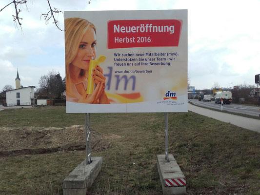 Miet Bautafel mobil 4x3m Bayern