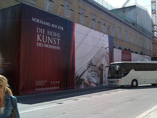 Großdruck PCV-Plane Palais an der Oper München