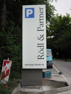 Werbestele Pylon Bogenhausen München