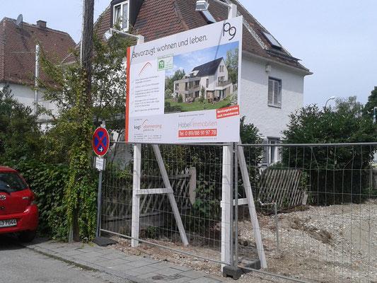 Bauschild 3x2m München Obermenzing Kogi