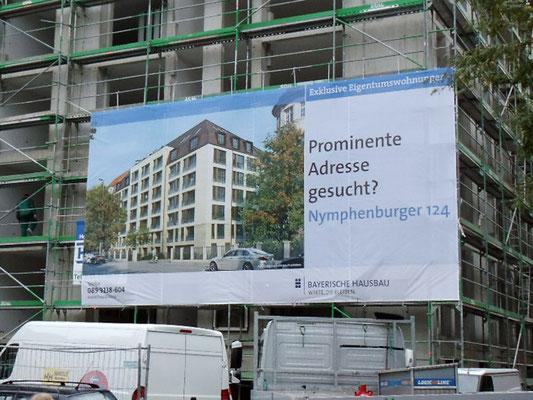 Gerüst Banner 11,5x6m München Nymphenburger