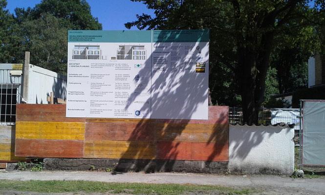 Holzbautafel 4x2,5m München