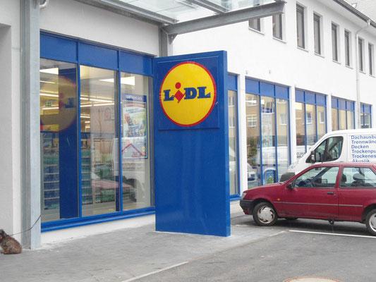 Leuchtpylon LIDL München