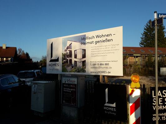 Bautafel Holzkonstruktion Wolfratshausen 3,5x1,5m