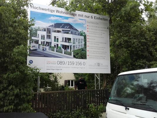 Bautafel System mobil 4x3m München 2017