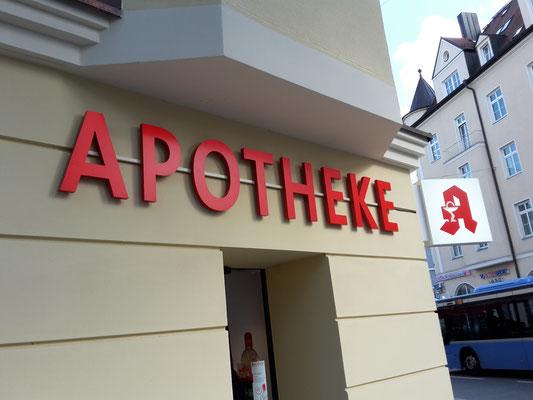 LED Schrift 30mm Apotheke Feilitzsch