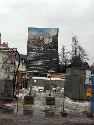 Bauschild mobil System 2x3m München Großhadern