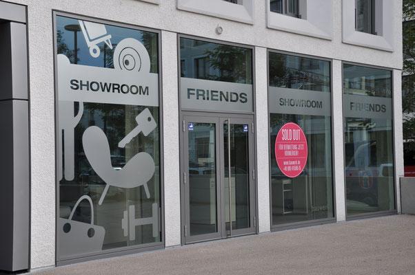 Schaufenster Folierung Showroom Glasdekorfolie