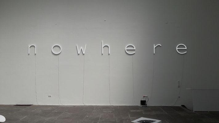 Vollacrylbuchstaben LED weiß Kunstpavillion München