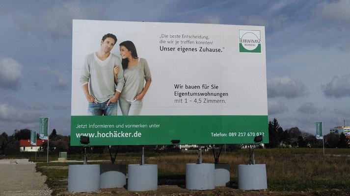 Bautafel 8x5m Stahl München Perlach