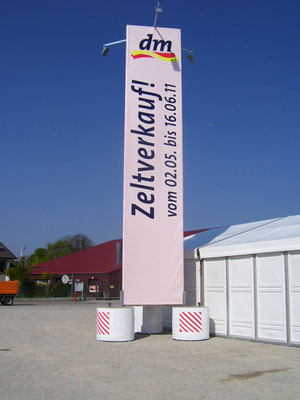 Bautafel Werbeturm 10m mobil