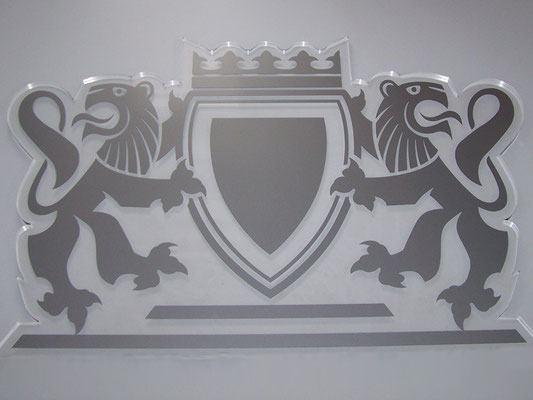 Acrylglas Logo ausgelasert