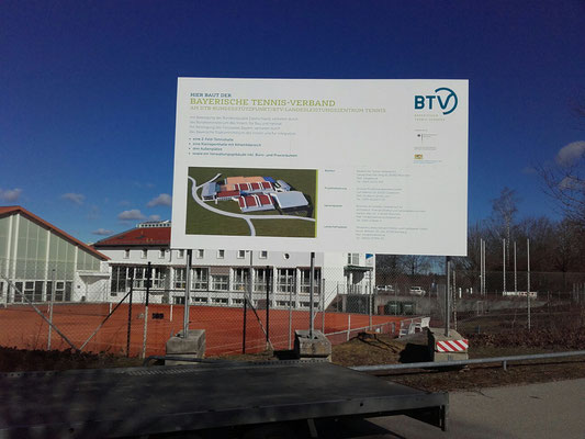 Bautafel mobile Fundamente 5x3m
