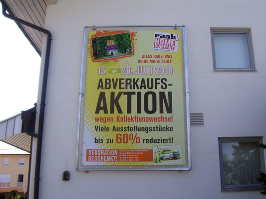 spannrahmen Banner Druck raab home company