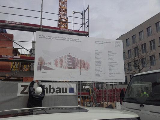 Bauschild 4x2m Mietsystem mobil München