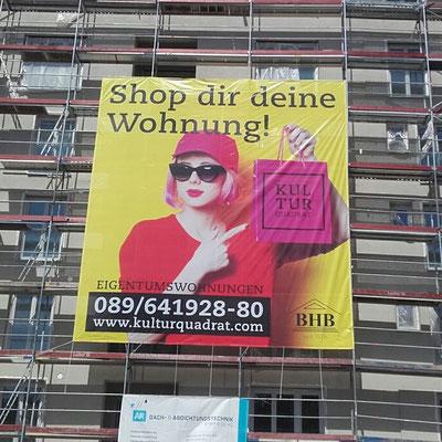 Baugerüst Banner 8x8m