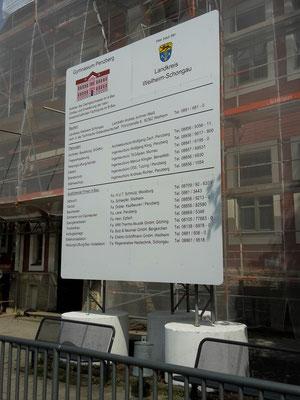 Bautafel Penzberg Schachtringe mobil 3,5x4m