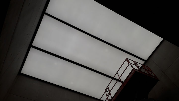 LED Lichtdecken Messehalle Österreich