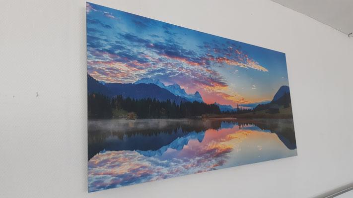 Fotobild Dibond Bergsee