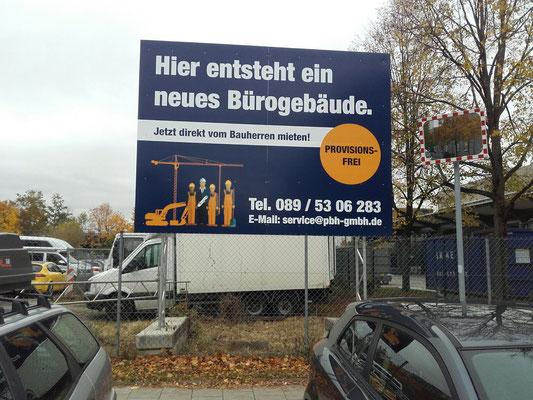 Bauschild München Systemfundamente mobil