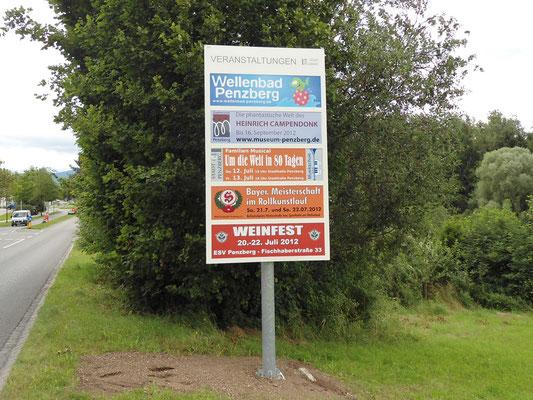 Veranstaltungstafeln Stadt Penzberg