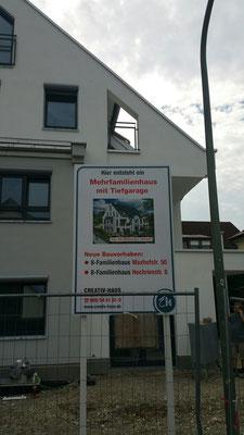 Holz Bautafel 1x2m München Süd