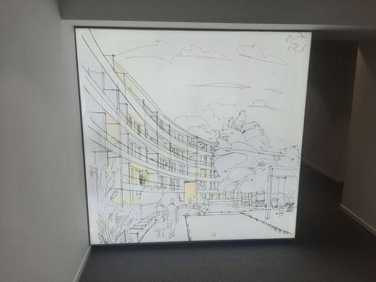 Lichtwand 2x2m Wandnische