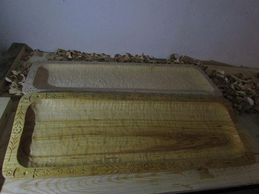Nr. 5  ( Duże korytka 83cm długośći impregnowane i naturalne) Cena 180 PLN brutto