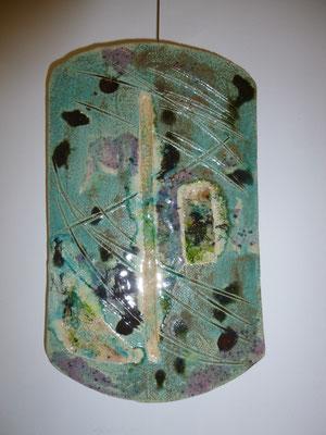 """""""Feuermalerei"""", Steinzeug, Glassuren und Glas von  Begonia Crespo Vidal"""