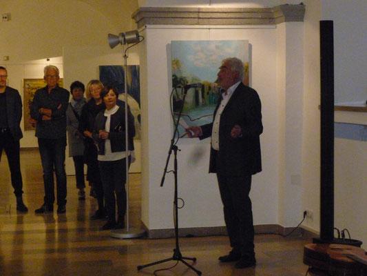 Wolfgang Schneider erzählte zur Gründung und dem Werdegang des Kunstvereins