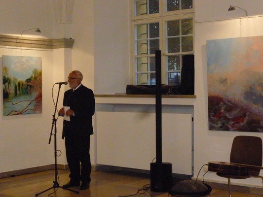 Die Eröffnungsrede zum 20jährigen Bestehen des Kunstvereins hielt der 3. Bügermeister Herr Josef Mayr
