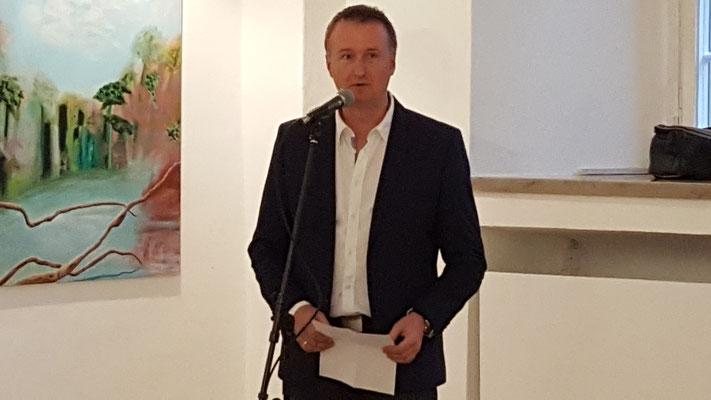 1. Vorsitzender Xaver Weindl begrüßt die Anwesenden