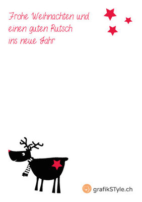 """Postkarte """"Rudolph"""" Rückseite"""