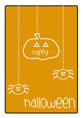 "Postkarte ""HappyHalloween"" Vorderseite"