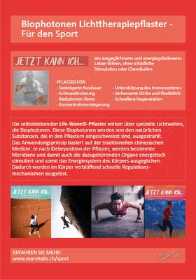 www.marvitalis.ch / Werbeflyer A5