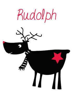 """Postkarte """"Rudolph"""" Vorderseite"""