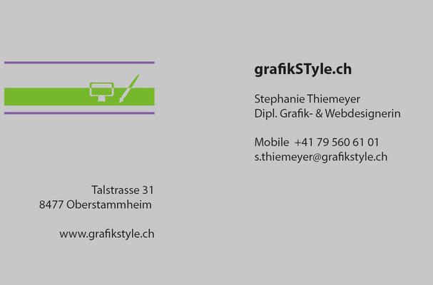 www.grafikstyle.ch (Firmenauftritt bis 2014) / Visitenkarte Rückseite