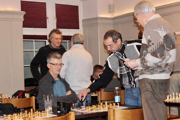 vorne: Thomas Wunderlin, Markus Meienhofer, Bruno Zülle, hinten: Gallus Tuor, Walter Haag