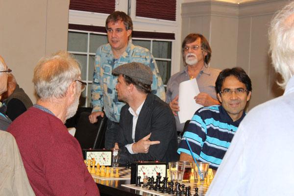 vlnr. Richard Brauchli, Christoph Rüegger, Gregory Wicki, Josef Peter, Gustavo Zaldivar