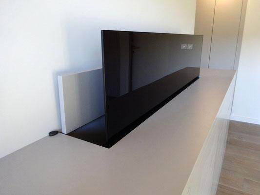 Meuble tv laqué