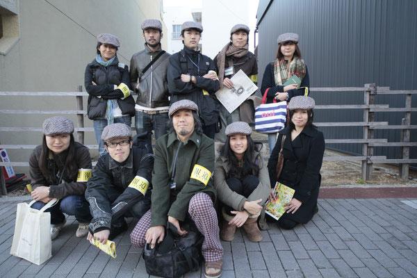 参加メンバー 名古屋大学、名古屋市立大学、名古屋芸術大学、名古屋学芸大学等の様々な学科からの参加者