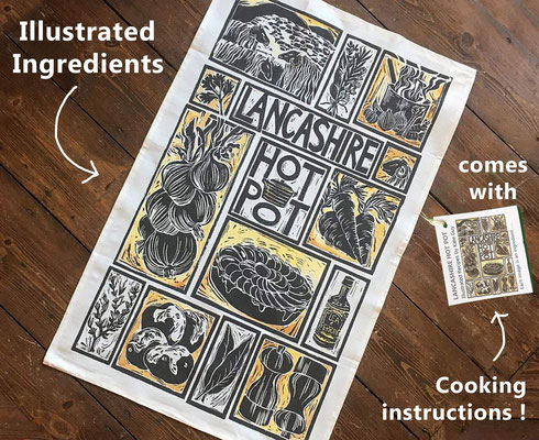 Illustrated tea towel