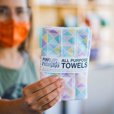 All Purpose Towels (3 pack) by Marley's Monsters