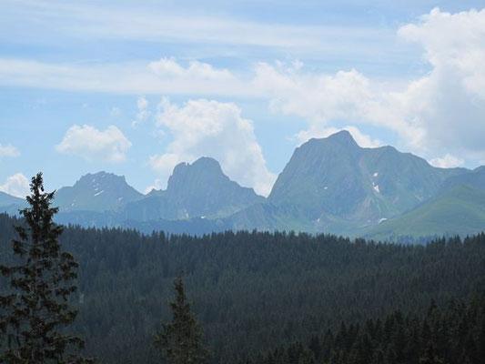 Immer wieder schön: Die Gantrisch-Bergkette.